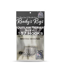25x Whiting Whispera Fishing Hooks Reedy's Wide Gap Ciclre Hook Size 6