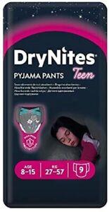 Huggies DryNites Girl 8-15 anni (27-57 kg) Confezione da 9 pz