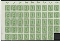 germany 1945 russian zone zigzag roulette mint never hinged stamps block r13301