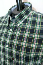 Pendleton Oxford Shirt Blue Green Plaid 100% Cotton Mens Size XL Short Sleeve