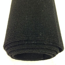 Boat carpet wall lining material 20sq mtr roll (10m x 2m) BLACK Ribbed Finish