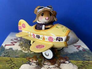 Pedal Plane Mouse Pilot Folktoberfest FTF Or Bust 2012 Wee Forest Folk LE Rare