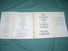 The Marble Faun and A Green Bough, by William Faulkner, 1965 1st ed./Poetry