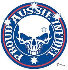 AUSSIE PRIDE PROUD INFIDEL STICKER SOUTHERN CROSS BUMPER STICKER AUSTRALIAN MADE