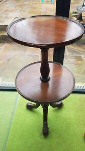 Georgian Mahogany Two Tier Dumb Waiter / Butlers Table