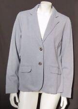 e0f99c2369 NEW NWOT LL BEAN Women's Blue Herringbone Stretch Knit Blazer Jacket Top  size M