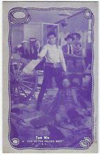 Western Movie Star Tom Mix 1920's-30's Exhibit Post Card #2