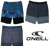 O'Neill Mens Performance Shorts Casual Comfortable Black Blue Hawaiian NEW NT