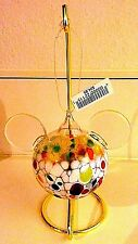 Disney Mickey Icon Blown Glass Christmas Ornament New with Tags Retired