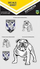 NRL Canterbury Bulldogs iTag UV Sticker Sheet