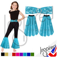 70s Child Flares Costume Fancy Dress  Disco Sequin Trousers Bottoms & Belt UK