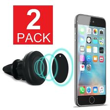 2 Pack Magnetic Car Mount Air Vent GPS Cell Phone Holder iPhone X 8 7 6 Plus