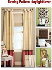 Window Treatment Cover Valance Shade Panel Sewing  Pattern  5828 McCall's New #k