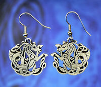 Celtic SEAHORSE Earrings Celtic Jewelry Designs in Fine Pewter Made in USA