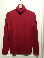 Ann Taylor 100% Cashmere Turtleneck Sweater, Red, Long Sleeves, Size M, NWT