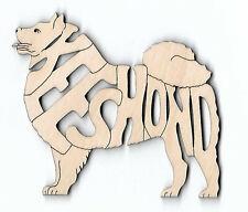 Keeshond Dog laser cut wood Magnet