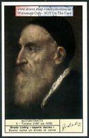 Italian Painter Titian Self Portrait c40 Y/O Trade Ad  Card