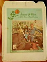 "Sonny & Cher ""All I Ever Need Is You"" 8 Track Cassette - MCA (KAPP) *GOOD SHAPE!"