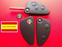 CARCASA MANDO LLAVE ALFA ROMEO + logo + ESPADIN 2 y 3 BOTONES GT 147 156