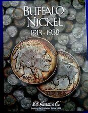 H.E. Harris Buffalo Nickel 1913-1938 Coin Folder, Album Book #2678
