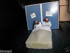 THE BEATLES HAND PAINTED FIGURES BED IN - SLEEP IN FOR PEACE JOHN AND YOKO  SET