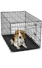 """30"""" Dog Crate Folding Wire Metal Cage  Kennel With Tray Pan and  Divider"""