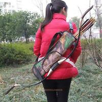 Target Hunting Archery Quiver Back Hip Waist Bag Arrow Bow Storage Holder Pouch