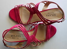 Milana pink sandals strappy heels Size 37 made in Italy USED