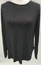 J.Jill WearEver Collection Black Cream Tunic Size XL NWT