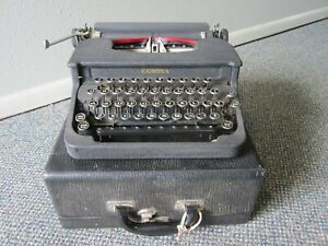 "RARE WWII 1943 US ARMY ""BLACK CRACKLE"" SMITH CORONA FLAT TOP TYPEWRITER"
