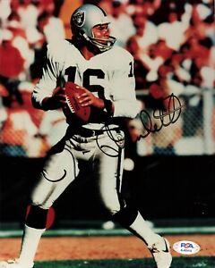 Jim Plunkett Oakland Raiders Signed Autograph 8 x 10 Photo PSA DNA AJ43415