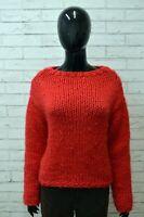 Maglione Donna REPLAY Taglia L Felpa Cardigan Pullover Sweater Woman Lana Rosso