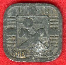 NETHERLANDS - 5 CENTS - 1943 - ZINC
