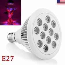 New 24W LED Grow Light E27 Lamp Bulb for Plant Flower Hydroponic Full Spectrum