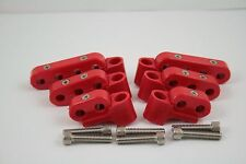 New Red Ignition Lead Wire Separators with Horizontal Mounts Suit 7-9mm 28-203