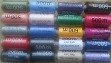 20 x 100% Poliéster Hilos Grande Carretes, 500 Metros cada bobina, alta calidad