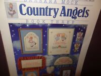 Country Angels Cross Stitch Leaflet Book Dimensions 1988 Barbara Mock 143