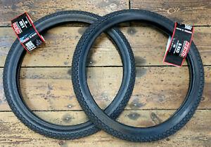 Pair of Kenda K-Rad Black BMX Tyre / Bicycle Tyre. 20 x 1.95 (ETRTO 50-406) NEW