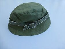 Betmar Womens Lined Green & Floral Bucket Hat With Buckle New Without Tags