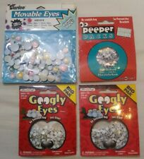 Lot 780 Pcs 5mm Asst Sizes Movable Wiggle Googly Eyes Glue On Red Yellow Blue