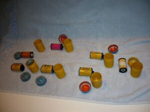 Vintage Kodak Film Canisters  WITH ROLLS OF FILM  Metal Can Containers