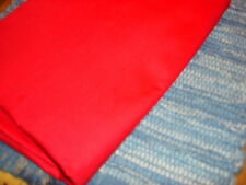 "Cotton Fabric Bright Solid Red 1 Yd 32""/44"" Wide"