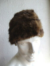 "NEW BOAT STYLE MUSKRAT FULL FUR HAT FOR MEN MAN SZ 22""3/4 TO 23"" 1/2"
