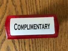 Complimentary Rubber Stamp-Red