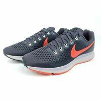 Nike Air Zoom Pegasus 34 Men's Running Shoes Gray Orange 880555 011 size 10