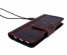 Genuine leather case for iphone 5c 5s SE id window Credit Cards slots magnetic