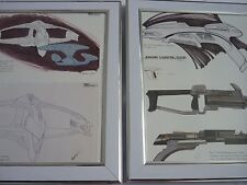 Framed Star Trek Art 8x10 proof concept Romulan starship disrupter rifle phaser