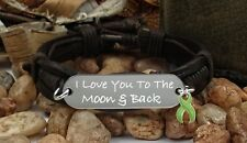 LG-1 Mental Health Awareness Bipolar Disorder Bracelet Love You Moon & Back