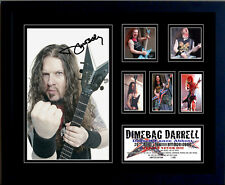 DIMEBAG DARRELL SIGNED LIMITED EDITION FRAMED MEMORABILIA