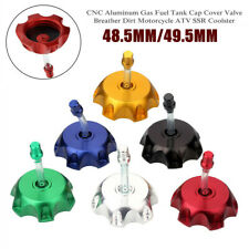 48.5/49.5MM CNC Motorcycle Gas Fuel Tank Cap Cover Valve Breather Dirt Bike ATV